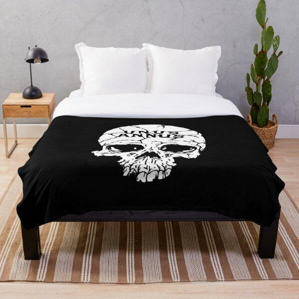 Unus Annus Skull White Throw Blanket RB0906 product Offical Unus Annus Merch
