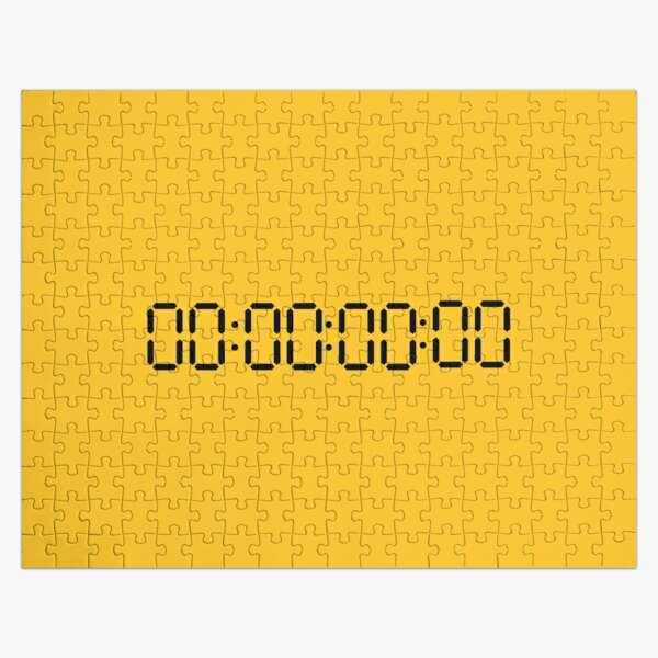 Copy of funny UNTITLED unus annus time hour 00:00:00:00 death gift clock o'clock black  Jigsaw Puzzle RB0906 product Offical Unus Annus Merch
