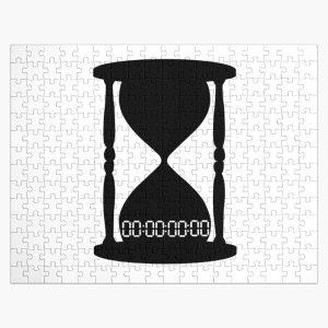 funny UNTITLED unus annus time hour 00:00:00:00 death gift clock o'clock black  Jigsaw Puzzle RB0906 product Offical Unus Annus Merch