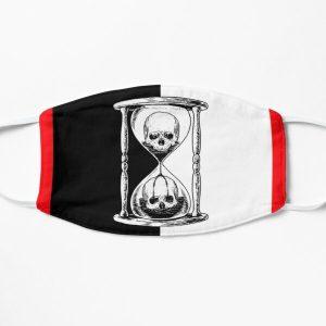 Unus Annus Hourglass Black and White Design Flat Mask RB0906 product Offical Unus Annus Merch