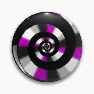 Asexual Unus Annus Spiral LGBTQ Pride Pin RB0906 product Offical Unus Annus Merch