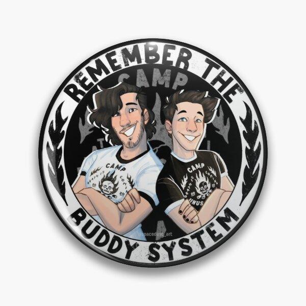 Remember the buddy system! - camp unus annus Pin RB0906 product Offical Unus Annus Merch